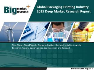 Global Packaging Printing Industry | Demand | Growth | opportunities | Trends