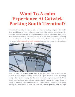 gatwick parking south terminal