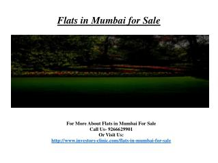 Flats in mumbai for sale @9266629901