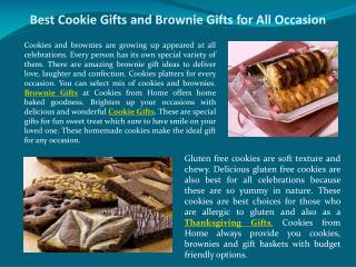 Best Cookie Gifts and Brownie Gifts for All Occasion