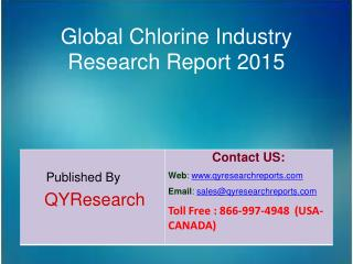 Global Chlorine Market 2015 Industry Overview, Analysis, Demands, Research and Trends