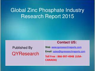 Global Zinc Phosphate Market 2015 Industry Analysis, Shares, Insights, Forecasts, Applications, Development, Growth, Ove