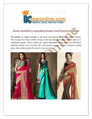Designer Sarees Online Shopping in United States