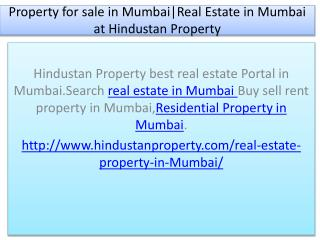 Property for sale in Mumbai|Real Estate in Mumbai at Hindustan Property