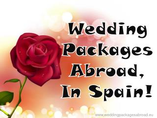 Wedding Packages Abroad In Spain