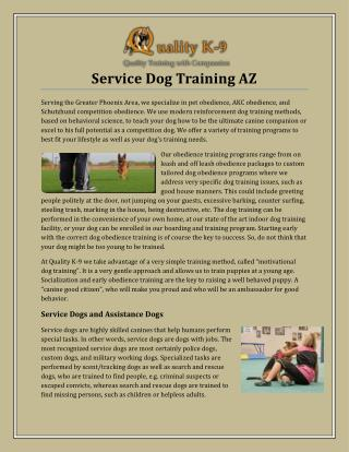 Service Dog Training AZ