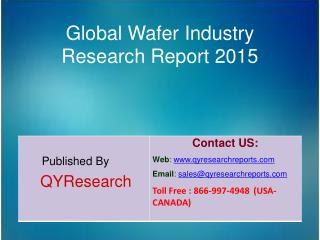 Global Wafer Market 2015 Industry Size, Shares, Research, Development, Growth, Insights, Analysis, Trends, Overview and