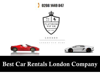 Best Car Rentals London Company