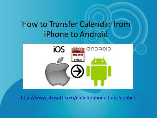How to Transfer Calendar from iPhone to Android