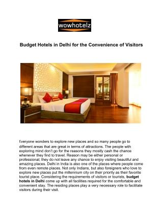 Book Budget Hotels in Delhi