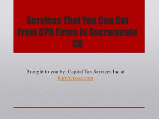 Services That You Can Get From CPA Firms In Sacramento CA