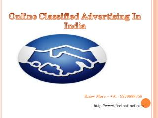 Online Classified Advertising In India @8527271018