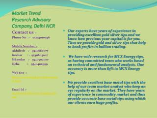Market Trend Research Advisory Company Delhi NCR