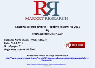 Seasonal Allergic Rhinitis Pipeline Therapeutics Assessment Review H2 2015
