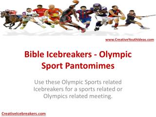 Bible Icebreakers - Olympic Sport Pantomimes