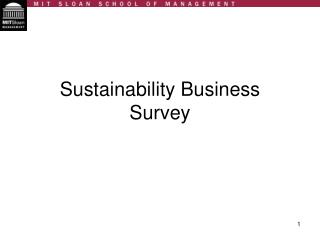 Sustainability Business Survey