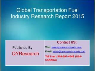 Global Transportation Fuel Market 2015 Industry Size, Research, Analysis, Applications, Development, Growth, Insights, O