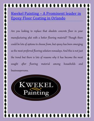 Garage Floor Coating Orlando