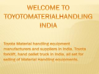 Toyota Material Handling India