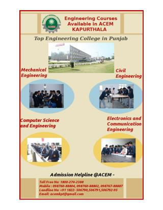 College Of Engineering in Punjab