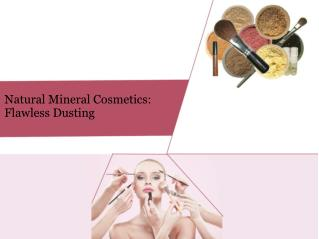 Natural Mineral Cosmetics- Flawless Dusting
