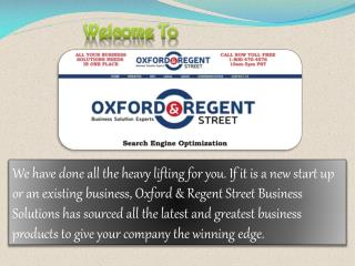 Oxford & Regent Street Business Solutions