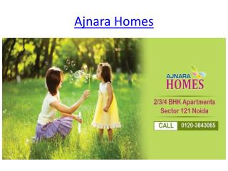 Good Investment Project Book Now Ajnara Homes In Sector 121 Noida