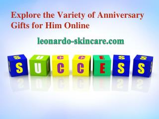 Explore the Variety of Anniversary Gifts for Him Online