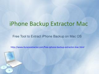 Free iPhone Backup Extractor Mac: Extract Data from iPhone Backup on Mac