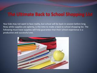 The Ultimate Back to School Shopping List