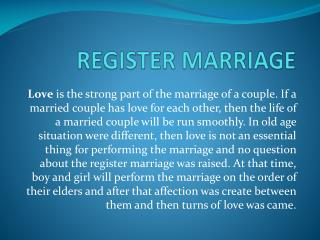 Register Marriage