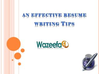 Effective Resume Writing Tips