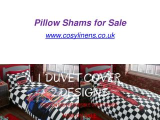 Pillow Shams for Sale - www.cosylinens.co.uk