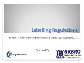FOOD SAFETY AND STANDARDS (PACKAGING AND LABELLING) REGULATIONS, 2011