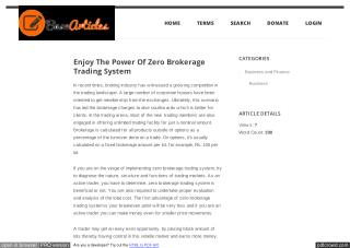 Enjoy The Power Of Zero Brokerage Trading System