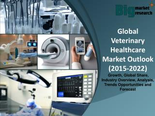 Global Veterinary Healthcare Market Outlook (2015-2022) - Market Trends, Size, Analysis and Forecast