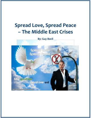 Spread love, spread peace – the middle east crises