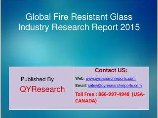 Global Fire Resistant Glass Industry  Analysis, Forecast, Growth and Research