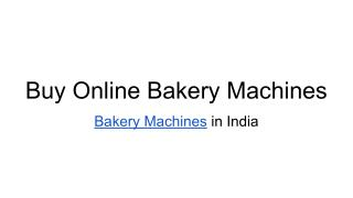 bakery machine
