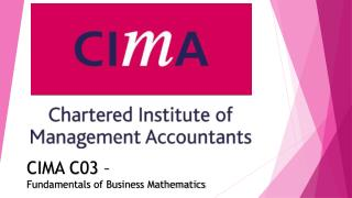 Cima C03 past exam papers