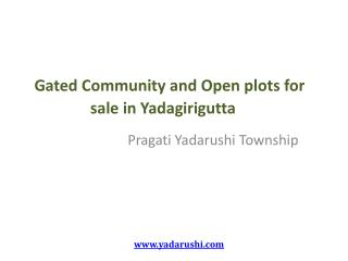 Open and gated community plots for sale in Hyderabad near Ghatkesar