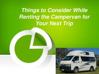 Campervan Rental - Things to Know When Hiring