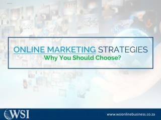 Online Marketing Strategies -Advantages