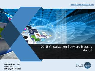 Virtualization Software Industry Technology, Market Import and Export 2015
