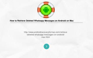 How to Retrieve deleted whatsApp Messages on Android on Mac