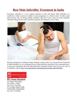 Best Male Infertility Treatment in India