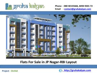 Flats for sale in jp nagar-rbi layout