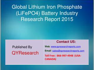 Global Lithium Iron Phosphate (LiFePO4) Battery Industry Overview, Analysis, Share and Trends