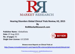 Hearing Disorders Global Clinical Trials Landscape Review H2 2015