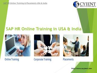 SSCyient - SAP HR Online Training in USA & India